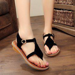 Suede Belt Buckle Sandals