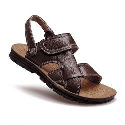 Stitching Faux Leather Sandals