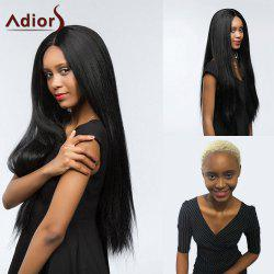 Adiors Dyeable Perm Long Center Part Silky Straight Lace Front Synthetic Wig