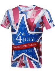 Tie Dye Fourth July Graphic T-Shirt - COLORMIX