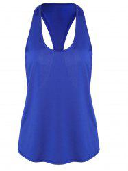 Racerback Workout Athletic Running Tank Top - BLUE XL