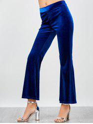High Waisted Velvet Flare Pants