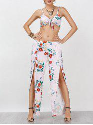 Wrap Crop Top and High Split Palazzo Pants