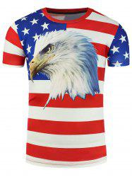Patriotic 3D Eagle Print T-Shirt