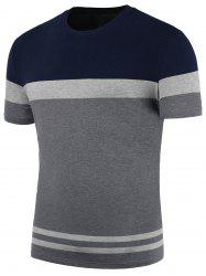 Stripe Panel Crew Neck T-Shirt