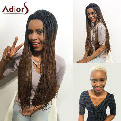Adiors Two Tone Long Afro Braid Lace Front Synthetic Hair