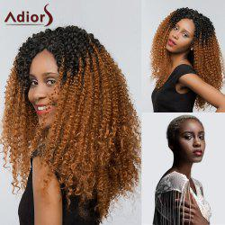Adiors Two Tone Long Deep Curly Side Part Lace Front Synthetic Hair - #1B/30