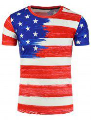 The Stars and The Stripes 3D Painting Print Patriotic T-Shirt