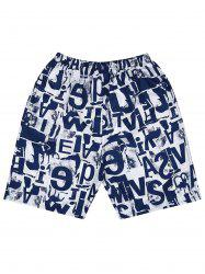 Letter Print Loose Fitting Board Shorts