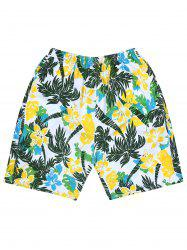 Tropical Flower Palm Tree Board Shorts
