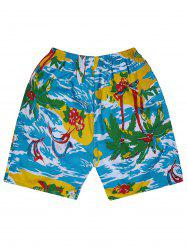 Hawaiian Tropical Print Board Shorts