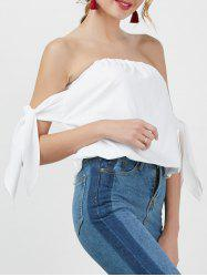 Bowknot Off The Shoulder Top