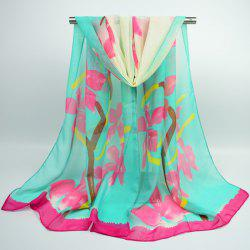 Gossamer Flowering Branch Printing Shawl Scarf