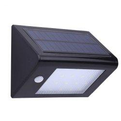 Garden Lawn Decor 20 LEDs Solar Powered Wall Lamp - BLACK