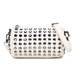 Stud Cylinder Shaped Crossbody Bag