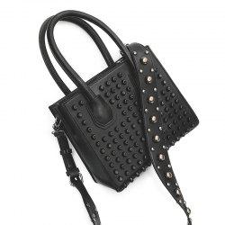 Rivets Convertible PU Leather Totes