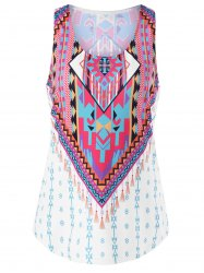 U Neck Indian Print Top