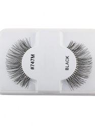 1 Pair False Lengthen Eyelashes - BLACK
