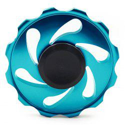 Stress Relief Toy Wheel Gyro Finger Spinner - Bleu