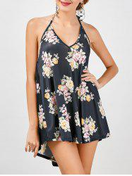 Halter Backless Floral Summer Dress