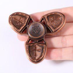 Anti Stress Toy Cross Shield EDC Finger Gyro - Rouge Bronze