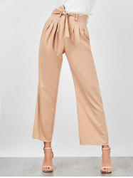 High Waisted Wide Leg Pants - APRICOT