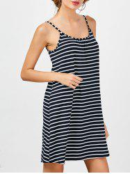 Striped Slip Shift Dress