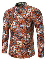 Plus Size Vintage Rose Print Shirt