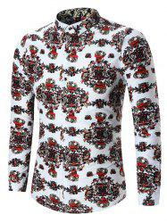 Abstract Printed Plus Size Shirt -