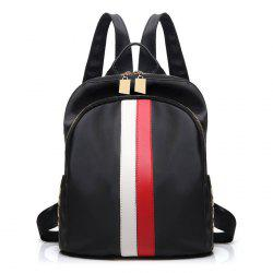 Rivet Stripe Nylon Backpack