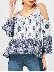 Bohemian Dew Shoulder Smock Blouse