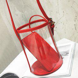 Transparent Bucket Bag with Pouch Bag