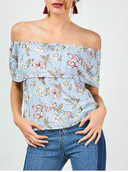 Ruffle Floral Off The Shoulder Top