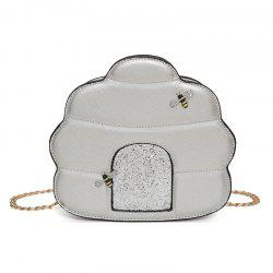 Bee Embellished Chain Crossbody Bag