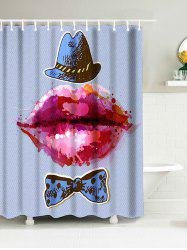 Red Lip Print Fabric Shower Curtain