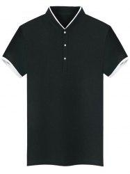Contrast Trim Slim Fit Henley T-Shirt