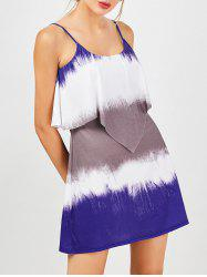 Overlay Tie Dye Summer Dress