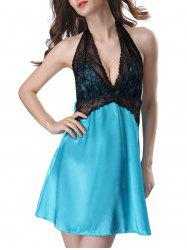 Halter Backless Satin Babydoll