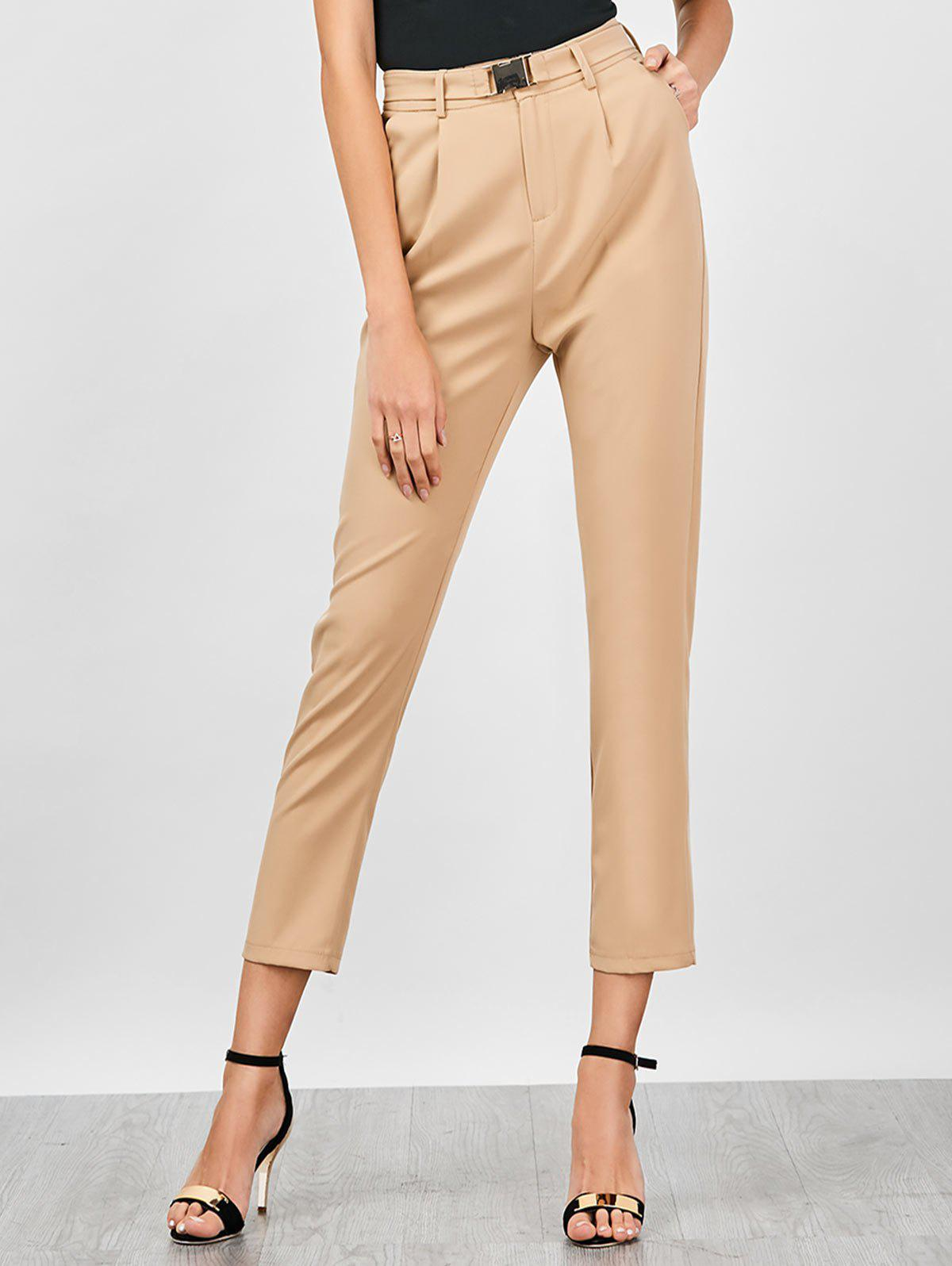 Chic High Waisted Straight Pants