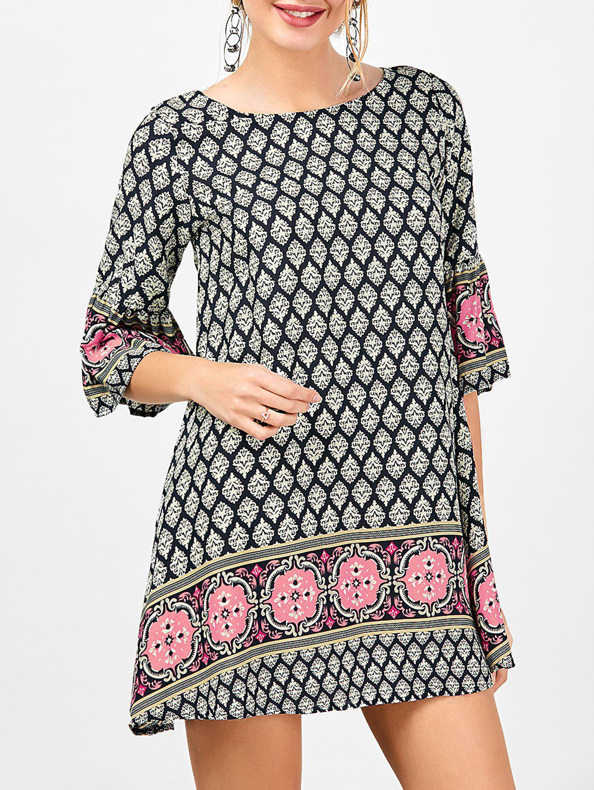 Fashion Printed Bohemian Tunic Dress