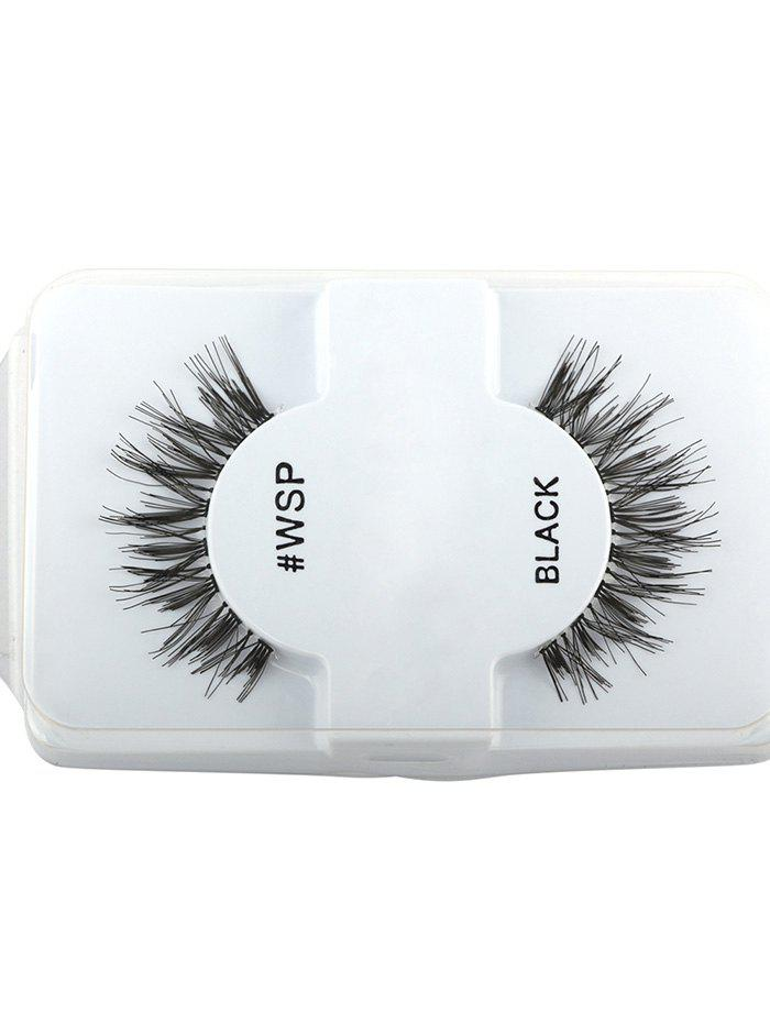 Thick Extension Crisscross False LashesBEAUTY<br><br>Color: BLACK; Category: False Eyelashes; Brush Hair Material: Synthetic Hair; Features: Professional; Season: Fall,Spring,Summer,Winter; Weight: 0.0100kg; Package Contents: 1 x False Eyelashes (Pair);