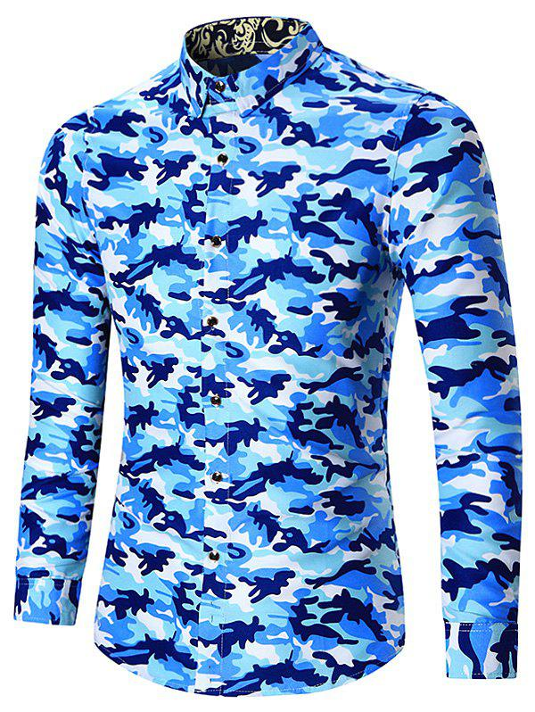 Outfits Plus Size Long Sleeve Camouflage Shirt