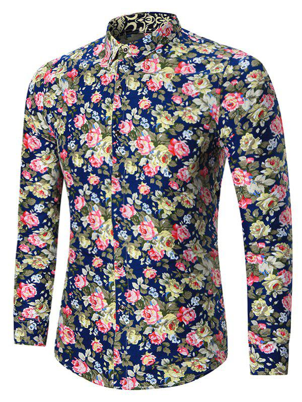 Chic Plus Size All Over Floral Printed Shirt