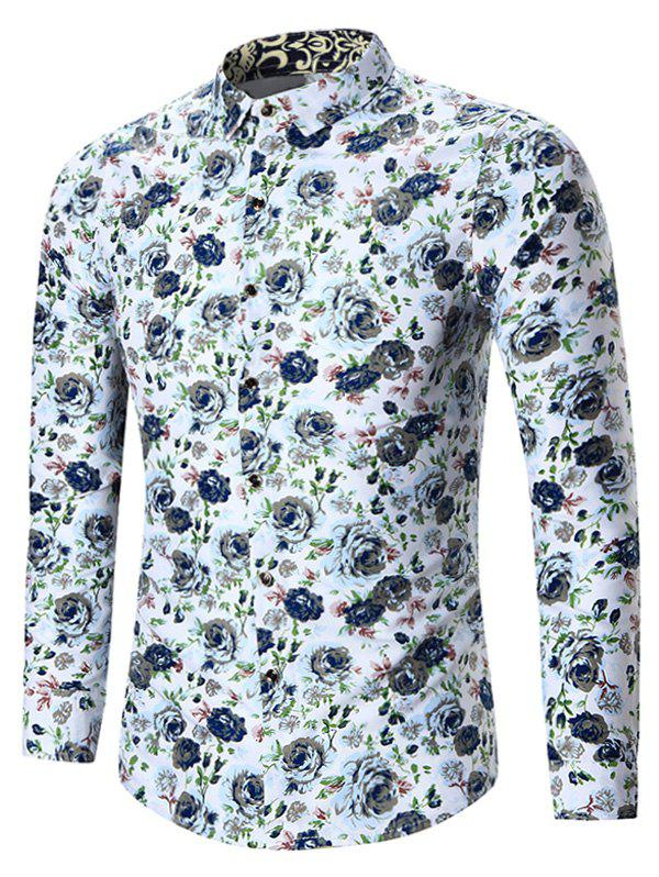 Buy Plus Size All Over Floral Printed Shirt