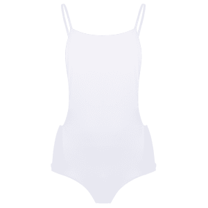 Stylish Straps Backless Solid Color Women's One-Piece Swimwear - WHITE XL