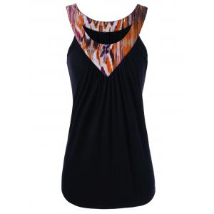 Printed Neck Tank Top
