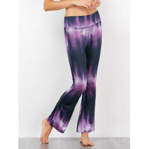Tie-Dyed Print High Waisted Flare Pants