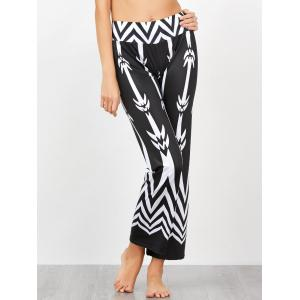 Chevron Patterned High Waisted Pants
