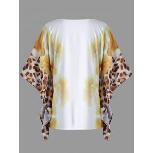 Plus Size Floral Butterfly Sleeve Top -
