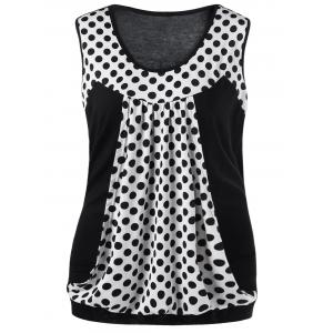 Polka Dot Plus Size Sleeveless T-Shirt